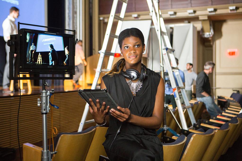 Rupert Whiteley, Providence photo shoot day 2, Schneider Auditorium